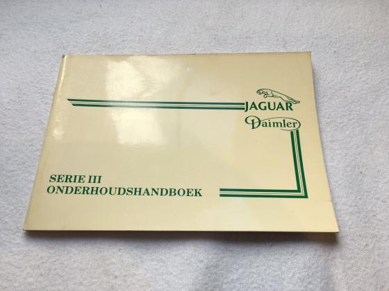 Onderhoudboekje Serie 3 Daimler JAGUAR XJ Serie 1-2-3 MK - E Type Diversen
